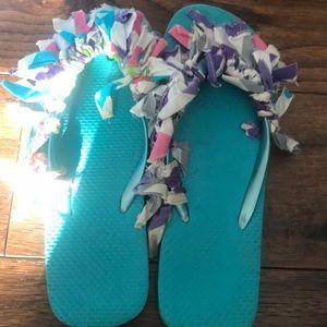 Decorative flip flops